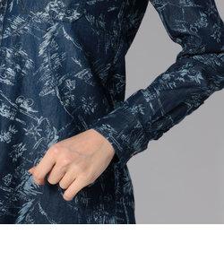 タイプブルー オーバープリント デニムシャツ/TYPE BLUE ALL OVER PRINT DENIM SHIRT