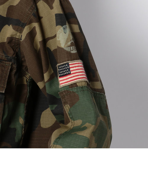 オーバーサイズ ショート シャツ ジャケット/OVER SIZE SHORT SHIRT