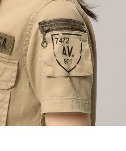 AVIREX/アヴィレックス/半袖 ファティーグ カーキシャツ/S/S FATIGUE KHAKI SHIRT