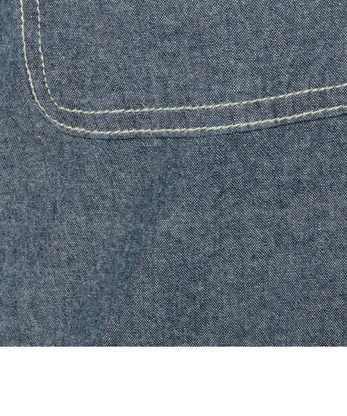 【直営店限定】タイプブルー ワークシャツ ワンピ-ス/TYPE BLUE STENCIL WORK SHIRT ONE PIECE