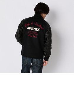 AVIREX/アヴィレックス/メルトン×レザー カーコート/MELTON×LEATHER CAR COAT