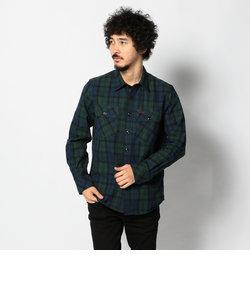 AVIREX/アヴィレックス/キャンバス チェック ワークシャツ/CHECK CANVAS WORK SHIRT