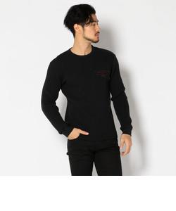 AVIREX/アヴィレックス/ L/S BIG WAFFLE CREW NECK T-SHIRT/ 長袖 ビッグワッフル クルーネック Tシャツ