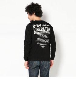 【直営店舗限定】AVIREX/アヴィレックス/クルーネック Tシャツ/<br>L/S CREW NECK TEE LIBERATOR