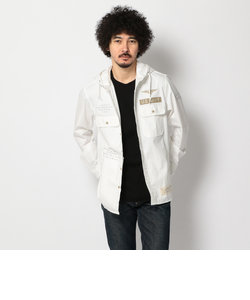 AVIREX/アヴィレックス/ステンシル フード カーキシャツ/COOLMAX STENCIL HOOD KHAKI SHIRT