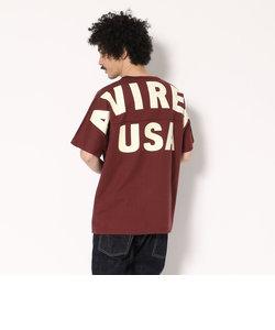 AVIREX/アヴィレックス/ビッグロゴ ルーズ フットボールTシャツ/BIG LOGO LOOSE FOOT BALL T-SHIRT