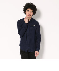 AVIREX/アヴィレックス/TAYPE BLUE/綿麻ダブルガーゼシャツ/ LINEN COTTON DOUBLE GUAZE SHIRT