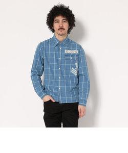 TYPE BLUE by AVIREX/ タイプブルー バイ アヴィレックス/ 長袖 インディゴ チェックシャツ/ L/S INDIGO CHECK SHIRT