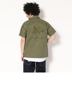 AVIREX/アヴィレックス/ 半袖 刺繍 BDU シャツ/ S/S EMBROIDERED BDU SHIRT