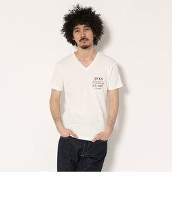 AVIREX/アヴィレックス/ワッフル VネックTシャツ N.F.W.S./WAFFLE V-NECK T-SHIRT N.F.W.S