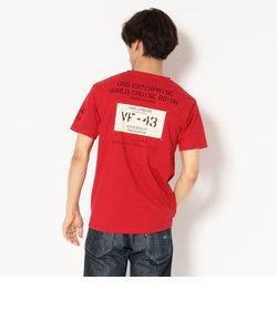 【直営店限定】AVIREX/アヴィレックス/半袖 パッチド クルーネック Tシャツ/PATCHED CREW NECK T-SHIRT