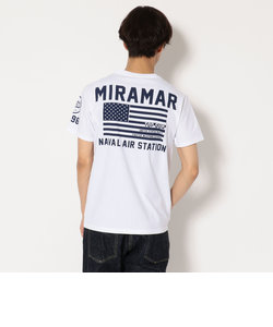 AVIREX/アヴィレックス/半袖 クルーネック Tシャツ ミラマー/CREW NECK T-SHIRT  MIRAMAR