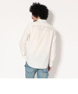 AVIREX/アヴィレックス/長袖 シンプル オフィサーシャツ/SIMPLE OFFICER SHIRT