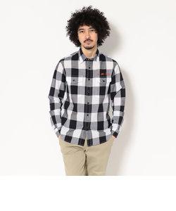 AVIREX/アヴィレックス/綿×リネン ブロックチェック ワークシャツ/COTTON×LINEN BLOCK CHECK WORK SHIRT