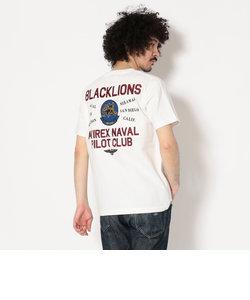 AVIREX/アヴィレックス/半袖 クルーネックTシャツ ブラックライオンズ/CREW NECK T-SHIRT BLACKLIONS