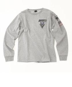 【AVIREX STREET GEAR/ TRACK】AVIREX/ アヴィレックス/ 長袖 刺繍 Tシャツ/ L/S EMBROIDERED T-SHIRT