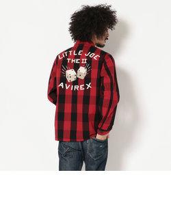 AVIREX/アヴィレックス/ 長袖 刺繍チェックシャツ リトルジョー/ L/S EMBROIDERY CHECK SHIRT LITTLE JOE