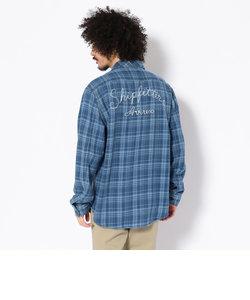TYPE BLUE by AVIREX/  長袖 インディゴチェック ワークシャツ/ LS INDIGO CHECK WORK SHIRT
