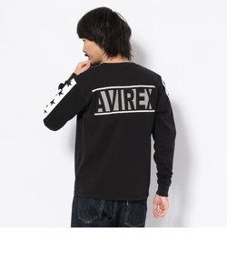 スターズ&ラインクルーネックTシャツ/STARS & LINE CREW NECK T-SHIRT