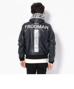 【直営店限定】フードレザージャケット フロッグマン/HOODED LEATHER JACKET FROGMAN