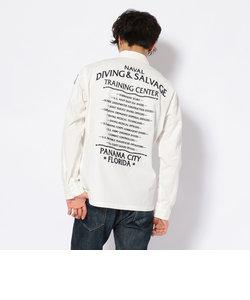 刺繍 ユーティリティーシャツ ダイバーズ/ EMBROIDERY UTILITY SHIRT DIVERS