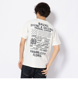 刺繍 Tシャツ ダイビング&サルベージ/EMB CREW NECK T-SHIRT DIVING & SALVAGE
