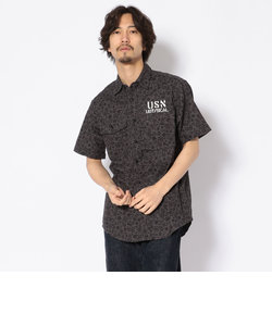 USN フラワープリントシャツ/U.S.N. FLOWER PRINT SHIRT
