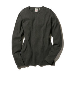【DAILY】長袖 ミニワッフル クルーネック Tシャツ/ L/S MINI WAFFLE CREW-NECK Tシャツ