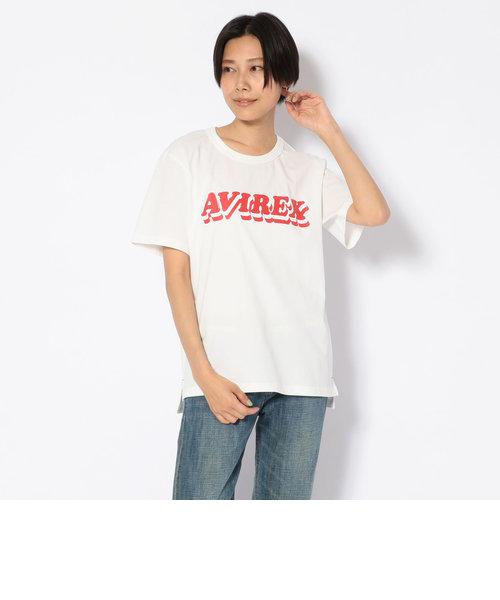 ロゴプリント クルーネックティーシャツ/LOGO PRINT CREW NECK T-SHIRT