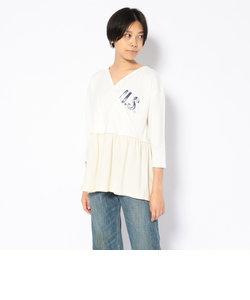 【直営店限定】カシュクールプリントTシャツ/CACHE COEUR PRINT T-SHIRT