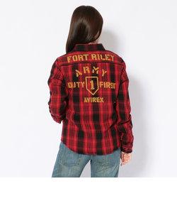 コットン ネル チェックシャツFORT RILEY/NEL CHECK SHIRT