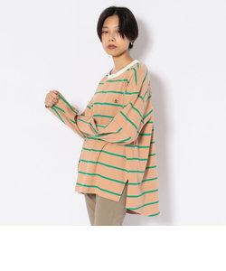 【WEB&DEPOT限定】ノーカラー ラグビーボーダーTシャツ/NO-COLLAR RUGBY BORDER TEE