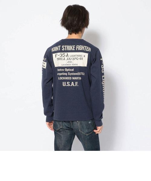シーチングワッペン F-35A ロングスリーブTシャツ/SHEETING WAPPEN F-35A TEE