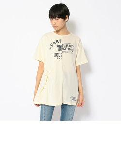 SH/リメイクプリントTシャツ/REMAKE PRINT T-SHIRT