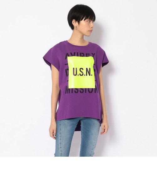 SH/フレンチスリーブ プリントTシャツ/FRENCH SLEEVE T-SHIRT
