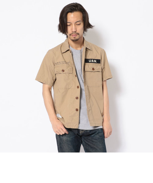 TYPE BLUE/ S/S SSN-571 WORK SHIRT/ワークシャツ