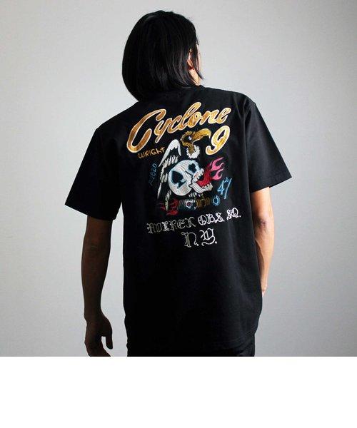 【WEB&DEPOT限定】エンブロイダリー Tシャツ サイクロンナイン/EMBROIDERY T-SHIRT CYCLONE9