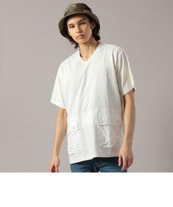 フェードウォッシュ ルーズフィット カーゴポケット VネックTシャツ/FADE WASH LOOSE FIT CARGO POCKET V-NECK T
