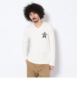 ミニワッフル Vネック Tシャツ/LS MINI WAFFLE V-NECK T-SHIRT'ACE'