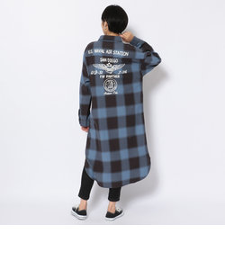 チェックシャツワンピース/ CHECK SHIRTS ONE PIECE
