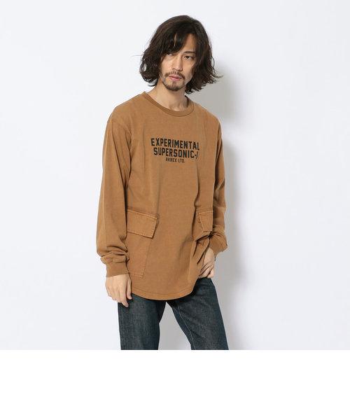 フェードウォッシュ クルーネック カーゴ Tシャツ/L/S FADE WASH CREW NECK CARGO T-SHIRT