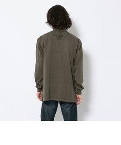フェードウォッシュ コマンド モックネック Tシャツ/L/S FADE WASH COMMAND MOCK NECK T-SHIRT