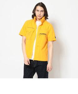 ファンクショナル スタンドジップシャツ/S/S FUNCTIONAL STAND ZIP SHIRT