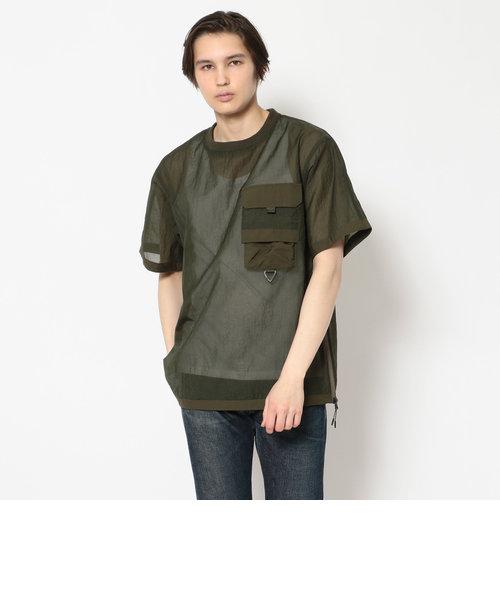 トゥランスルーセント ルーズフィット ポケット Tシャツ/TRANSLUCENT LOOSE FIT POCKET T-SHIRT/AVIREX