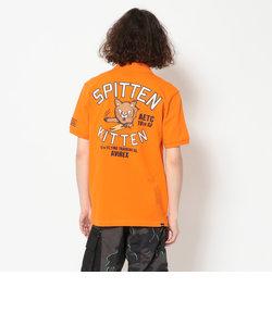 刺繍 ポロシャツ キットゥン /EMBROIDERED POLO KITTEN