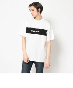 ルーズ フィット スリット スウィッチング Tシャツ/SS LOOSE FIT SLIT SWITCHING T-SHIRT/アヴィレックス/AVIREX