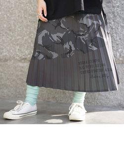プリーツカモ カラーコンビ カモスカート/PLEATED COLOR COMBI CAMO SKIRT