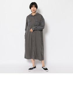 カラーコンビロングシャツワンピース/ COLOR COMBI LONG SHIRT ONEPIECE