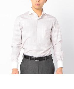 SD:【ALBINI社製生地】ファインフィット ストライプ クレリック ワイドカラー シャツ