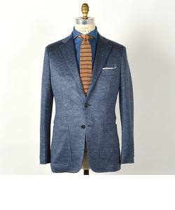 SD: リネン ジャージー ジャケット(ブルー)